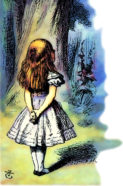 the bottom of Alice and the Cheshire Cat